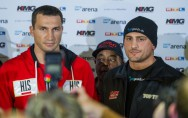 Wladimir Klitschko (links) und Francesco Pianeta