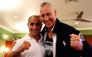 Andreas Sidon (rechts) mit Weltmeister Arthur Abraham