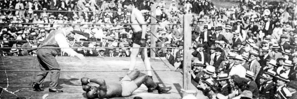 Jess Willard triumphierte über Jack Johnson